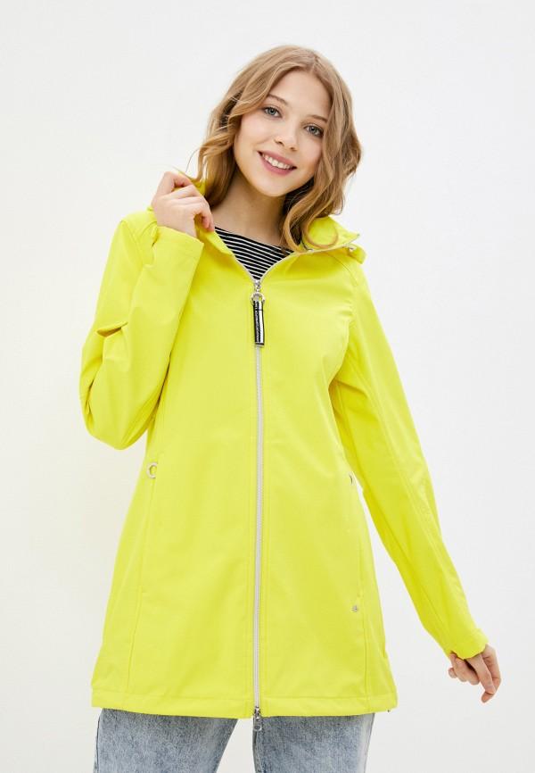 женская спортивные куртка luhta, желтая