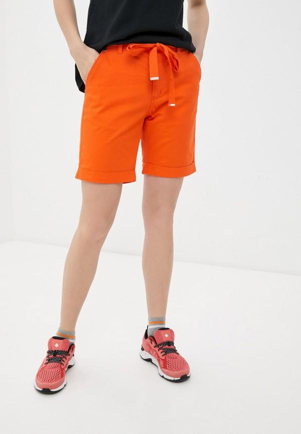 женские повседневные шорты luhta, оранжевые