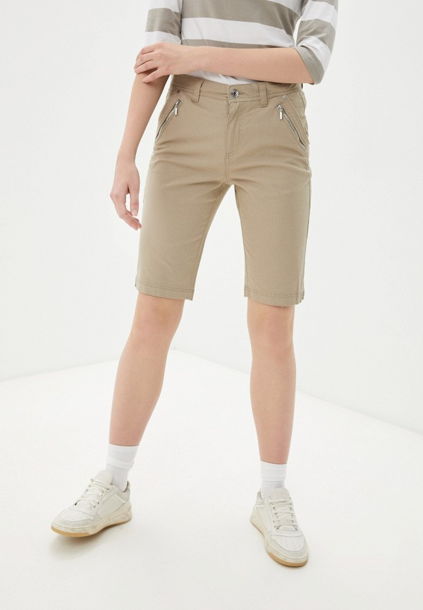 женские повседневные шорты luhta, бежевые