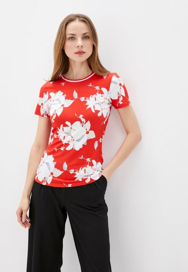 женская спортивные футболка luhta, красная