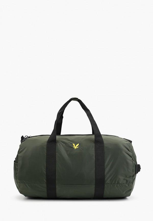 мужская спортивные сумка lyle & scott, хаки