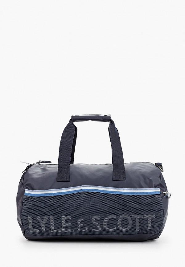 мужская спортивные сумка lyle & scott, синяя