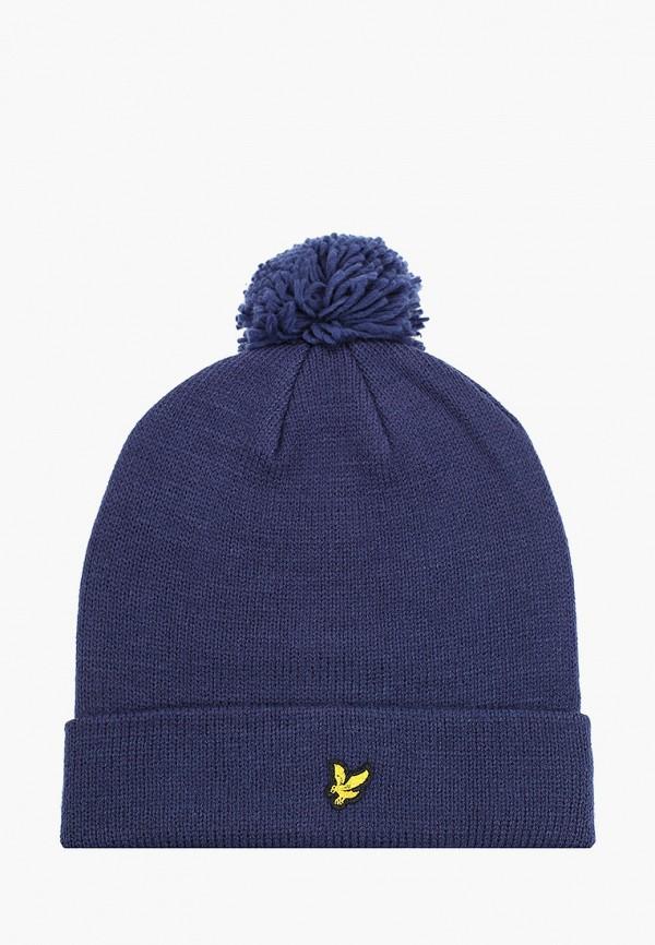 мужская шапка lyle & scott, синяя
