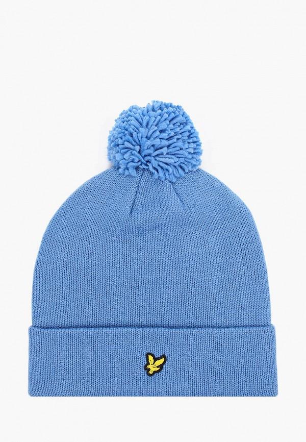 мужская шапка lyle & scott, голубая