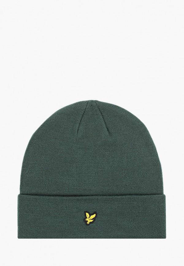мужская шапка lyle & scott, зеленая