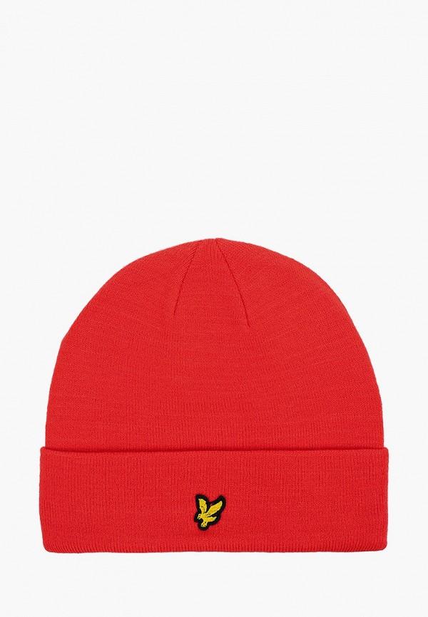мужская шапка lyle & scott, красная