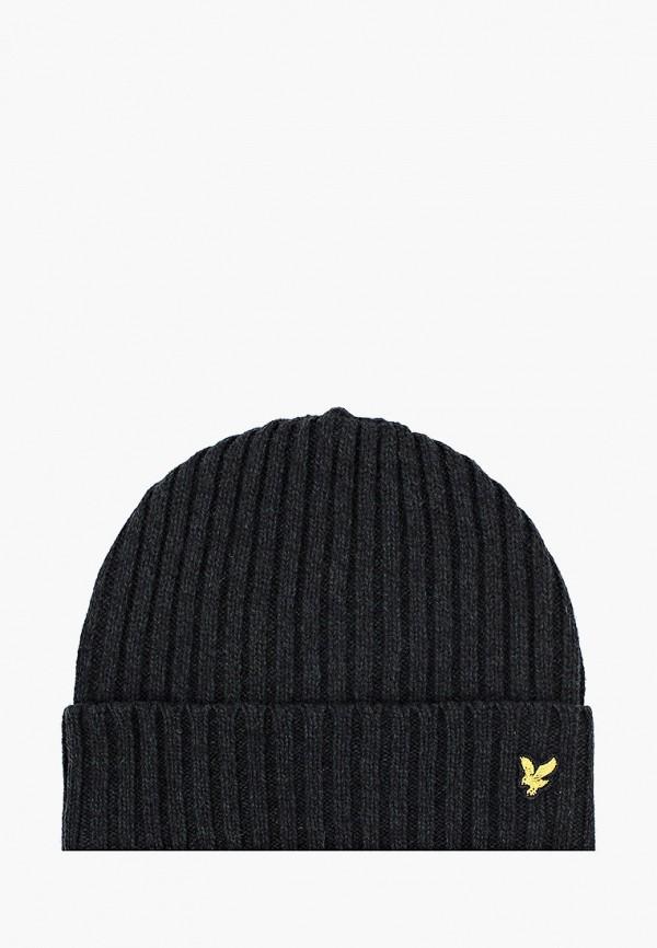 мужская шапка lyle & scott, черная
