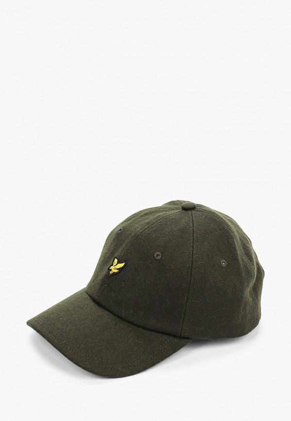 мужская бейсболка lyle & scott, зеленая