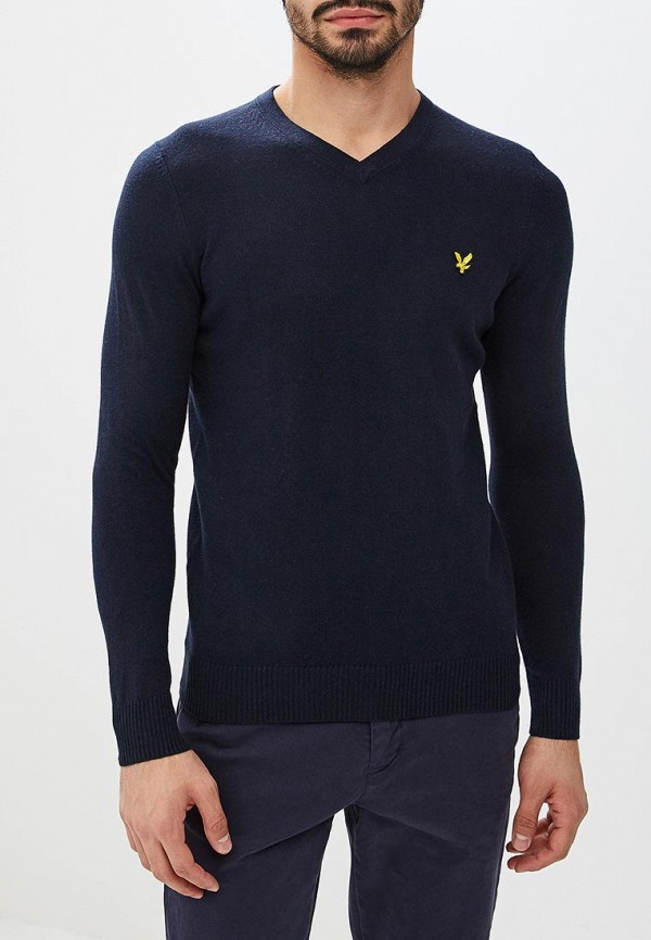 мужской пуловер lyle & scott, синий