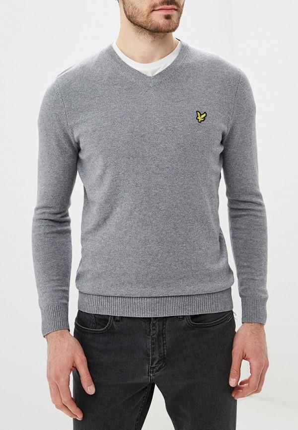 мужской пуловер lyle & scott, серый