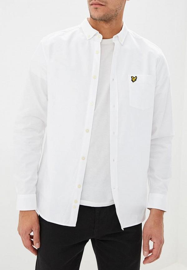 мужская рубашка с длинным рукавом lyle & scott, белая