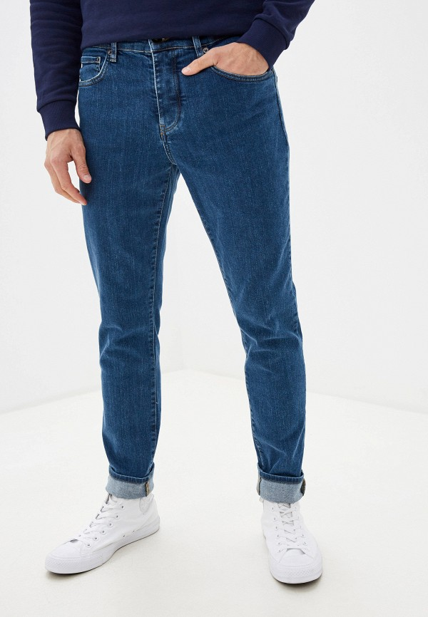мужские зауженные джинсы lyle & scott, синие