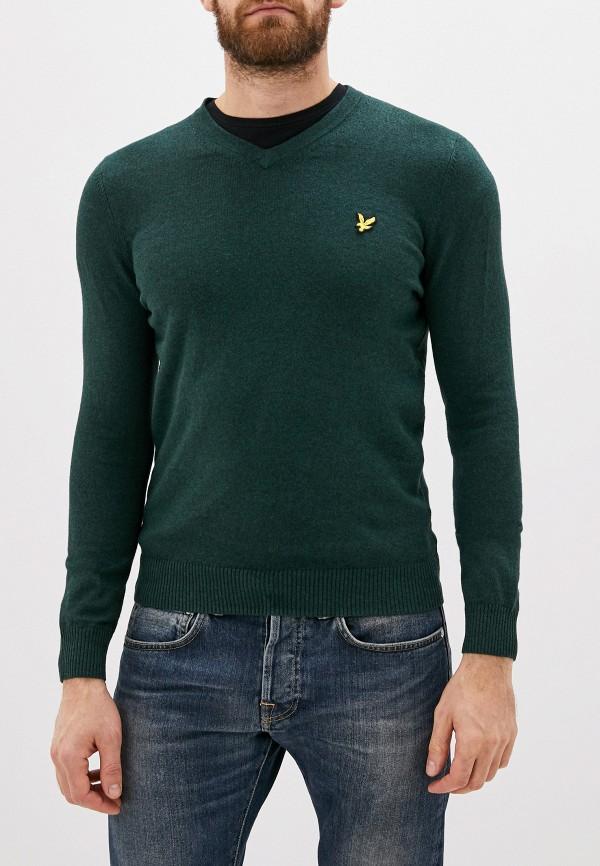 мужской пуловер lyle & scott, зеленый