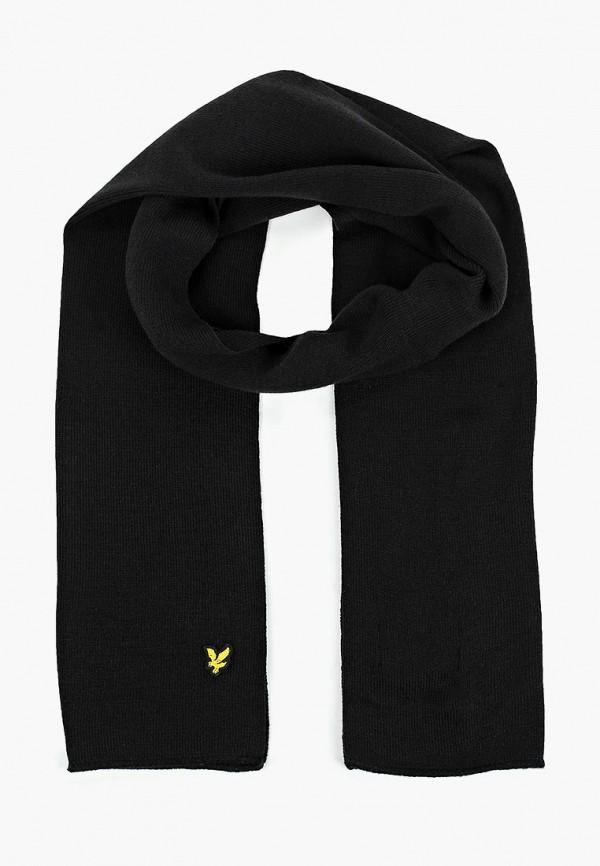 мужской шарф lyle & scott, черный