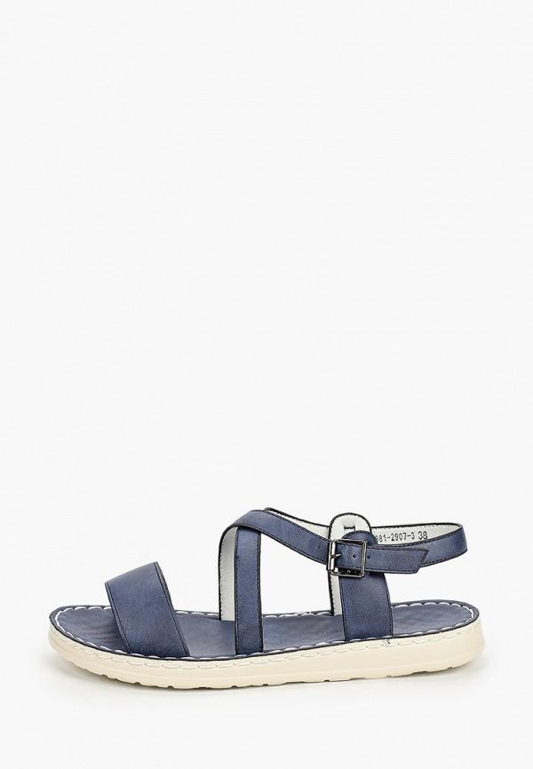 женские сандалии m25, синие