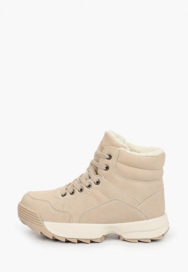 женские ботинки m25, бежевые