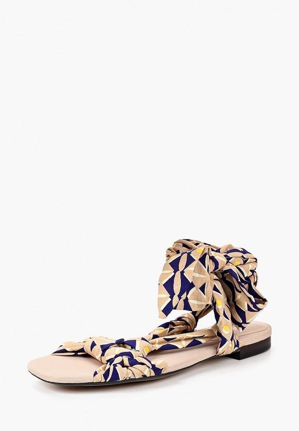 Женские бежевые осенние сандалии