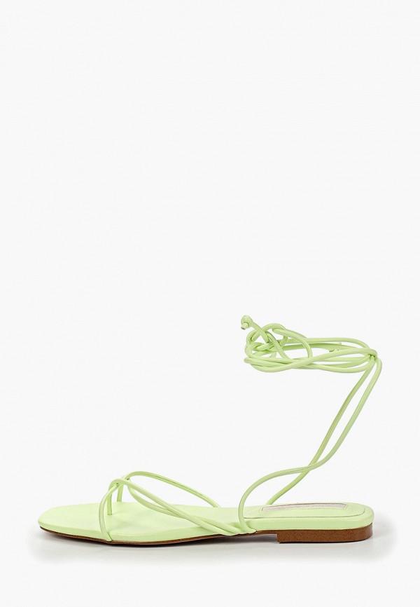 Фото - женские сандали Mango зеленого цвета