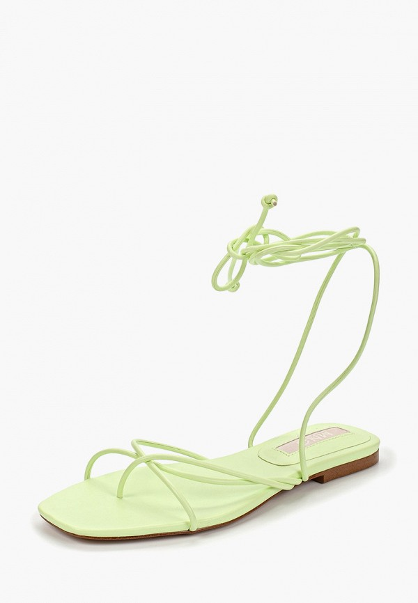 Фото 2 - женские сандали Mango зеленого цвета