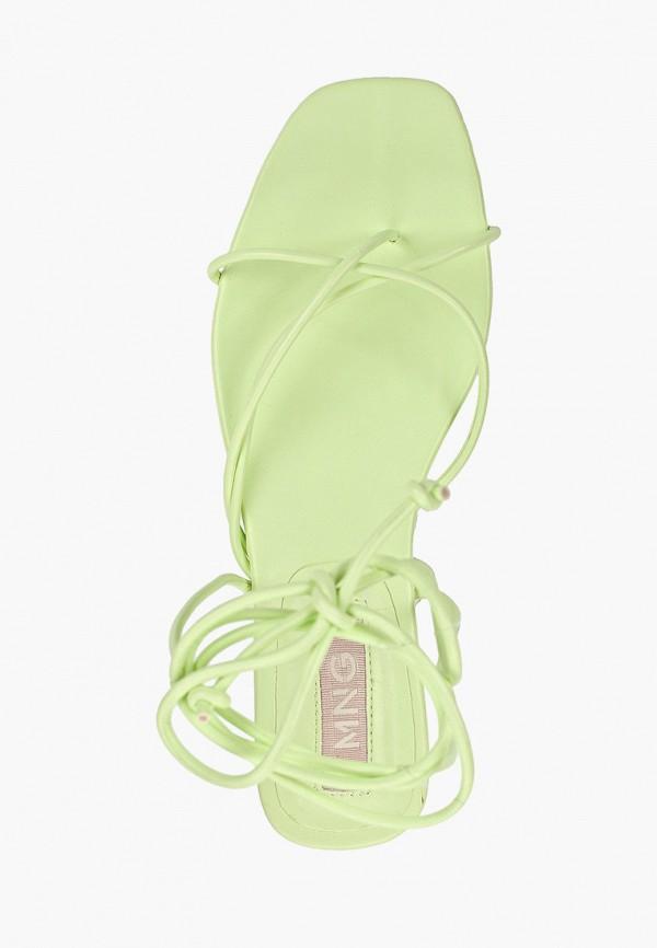 Фото 4 - женские сандали Mango зеленого цвета