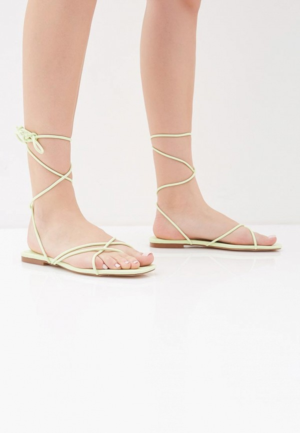 Фото 6 - женские сандали Mango зеленого цвета