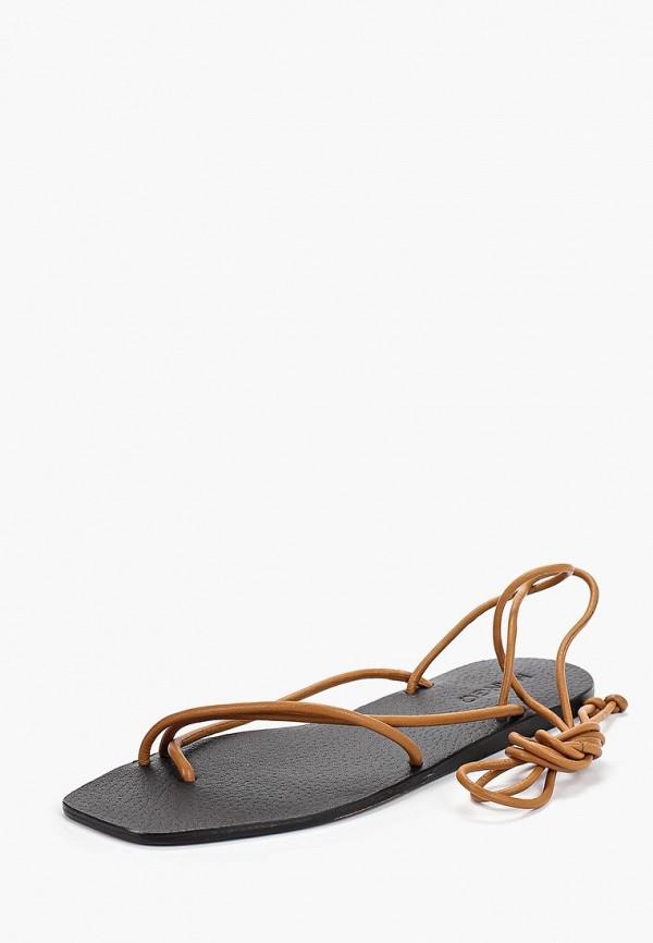Фото 2 - женские сандали Mango коричневого цвета