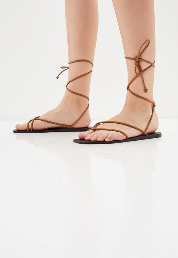 Фото 6 - женские сандали Mango коричневого цвета