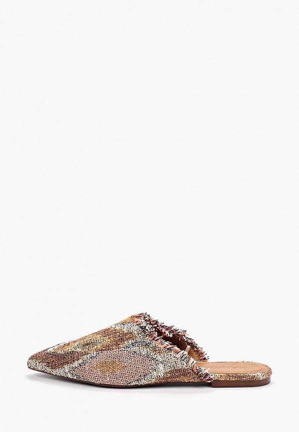 Фото - женские сабо Mango коричневого цвета