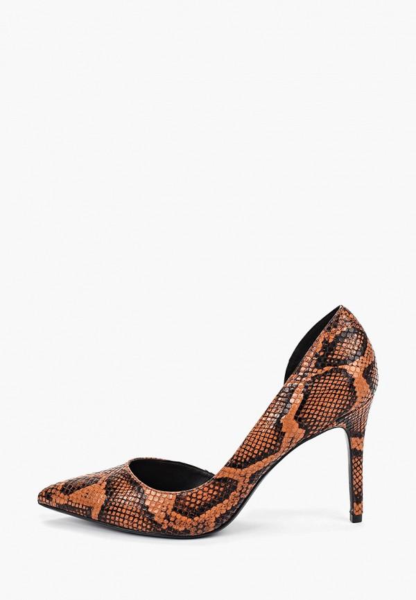 женские туфли mango, коричневые