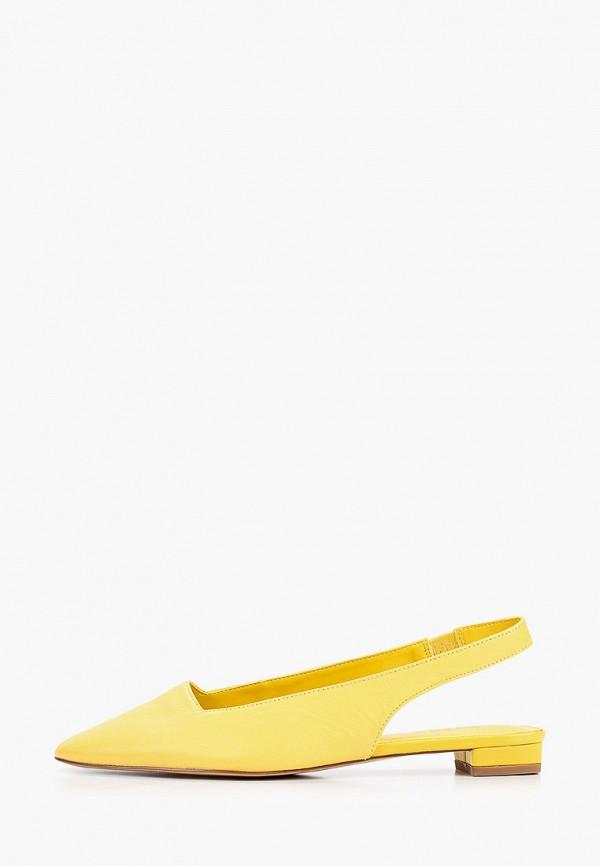 женские туфли mango, желтые