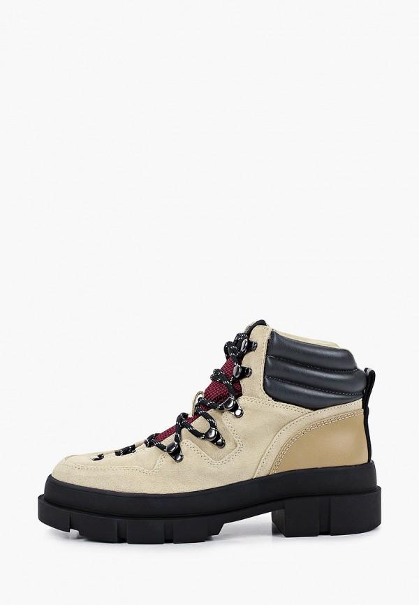 женские ботинки mango, бежевые