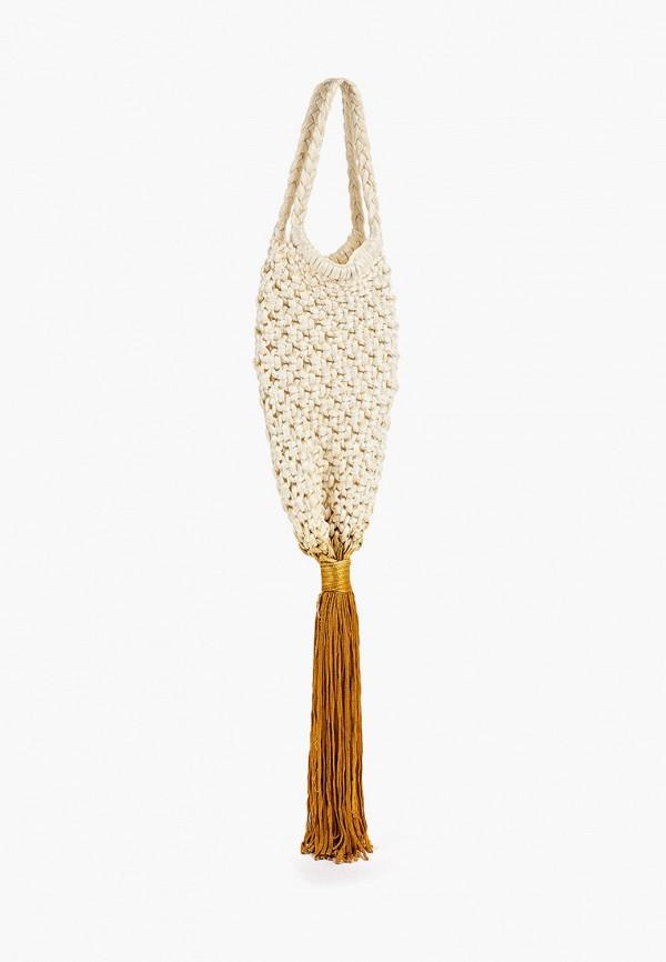 Фото 2 - женскую сумку Mango бежевого цвета