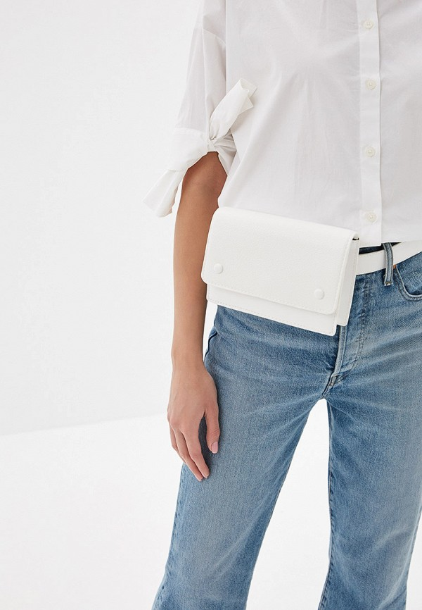 Фото 4 - женскую сумку Mango белого цвета