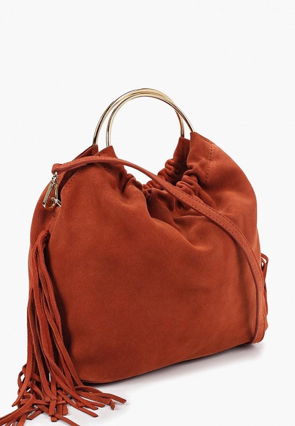 Фото 2 - женскую сумку Mango оранжевого цвета