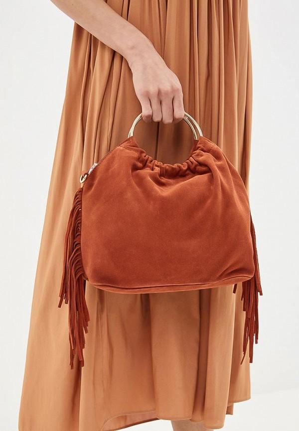 Фото 4 - женскую сумку Mango оранжевого цвета