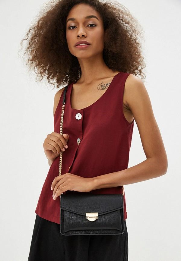 Фото 4 - женскую сумку Mango черного цвета