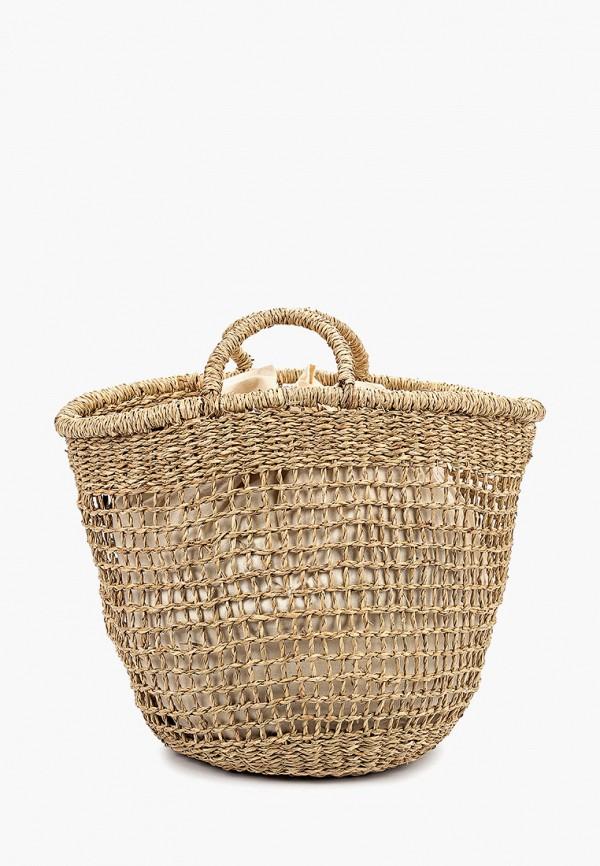 женская сумка mango, бежевая