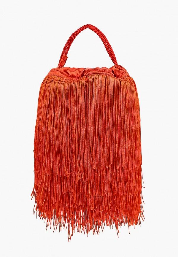 женская сумка mango, оранжевая
