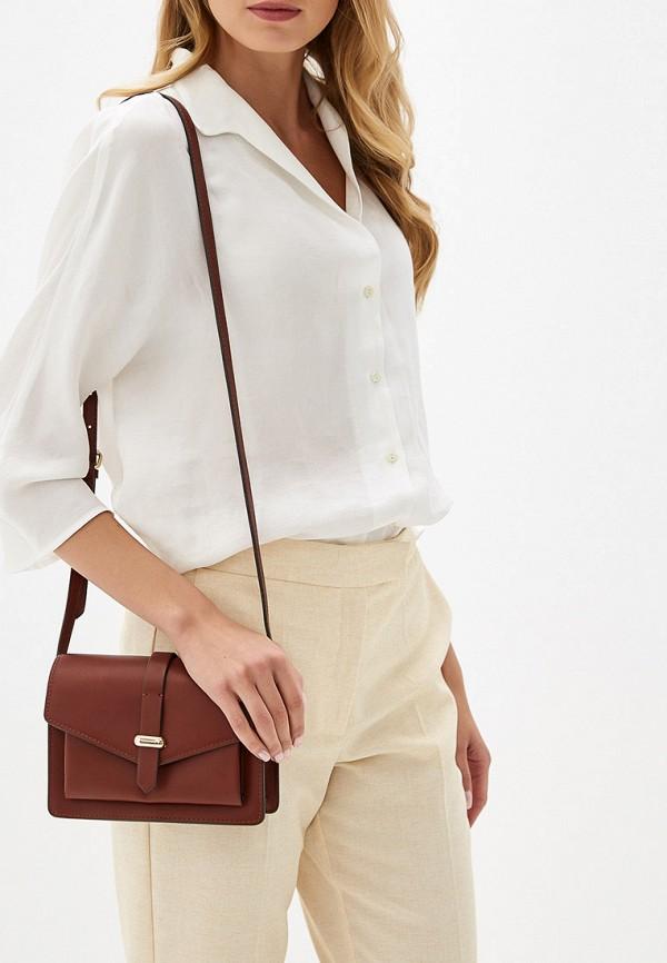 Фото 4 - женскую сумку Mango коричневого цвета