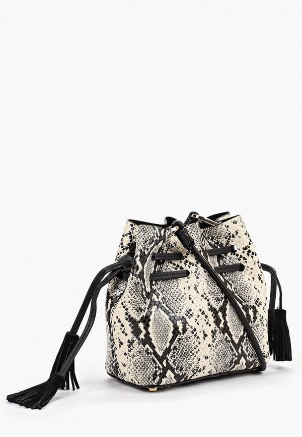 Фото 2 - женскую сумку Mango серого цвета