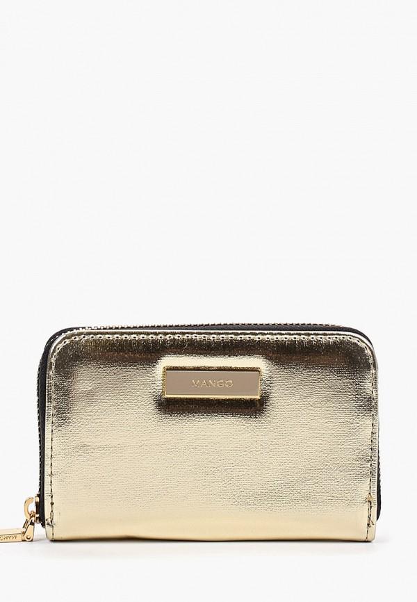 женский кошелёк mango, золотой