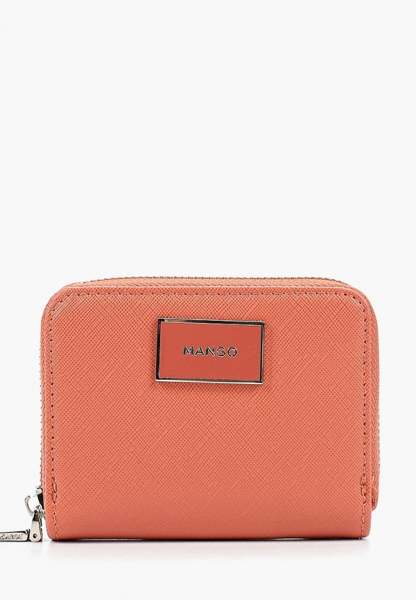 Фото - женский кошелек или портмоне Mango кораллового цвета