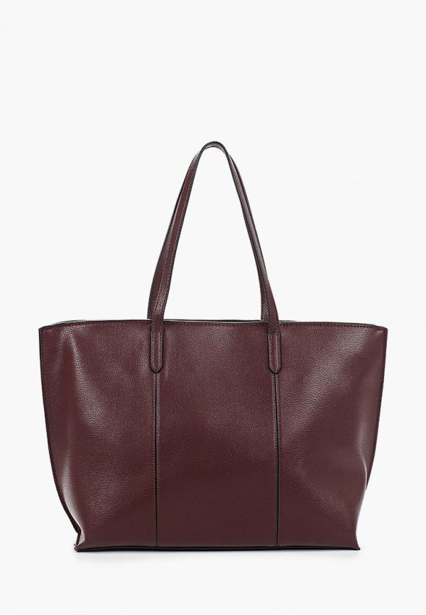 женская сумка mango, бордовая