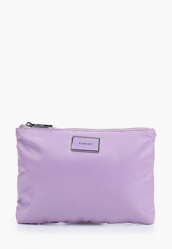 женская косметичка mango, фиолетовая