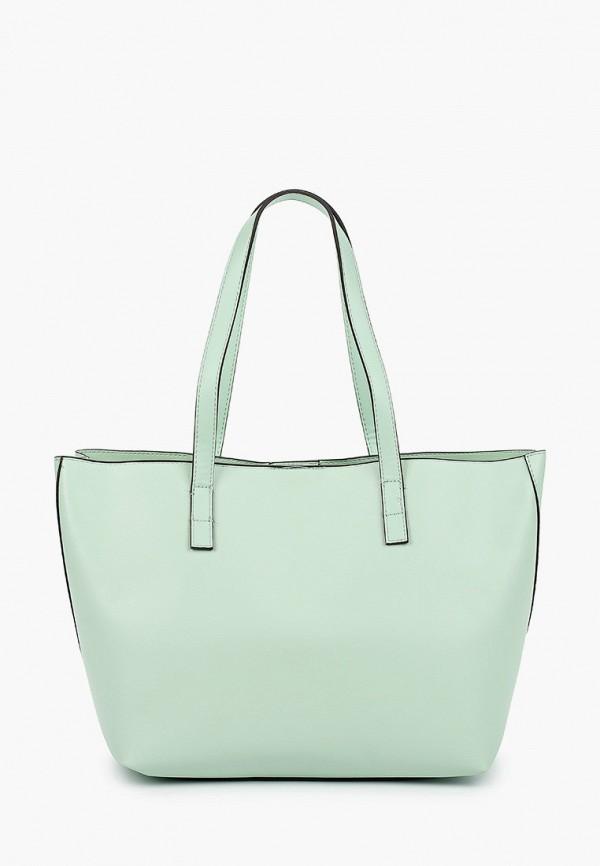 женская сумка mango, голубая