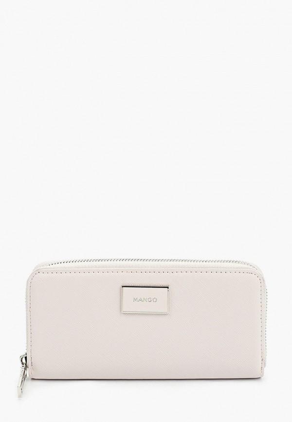 женский кошелёк mango, белый