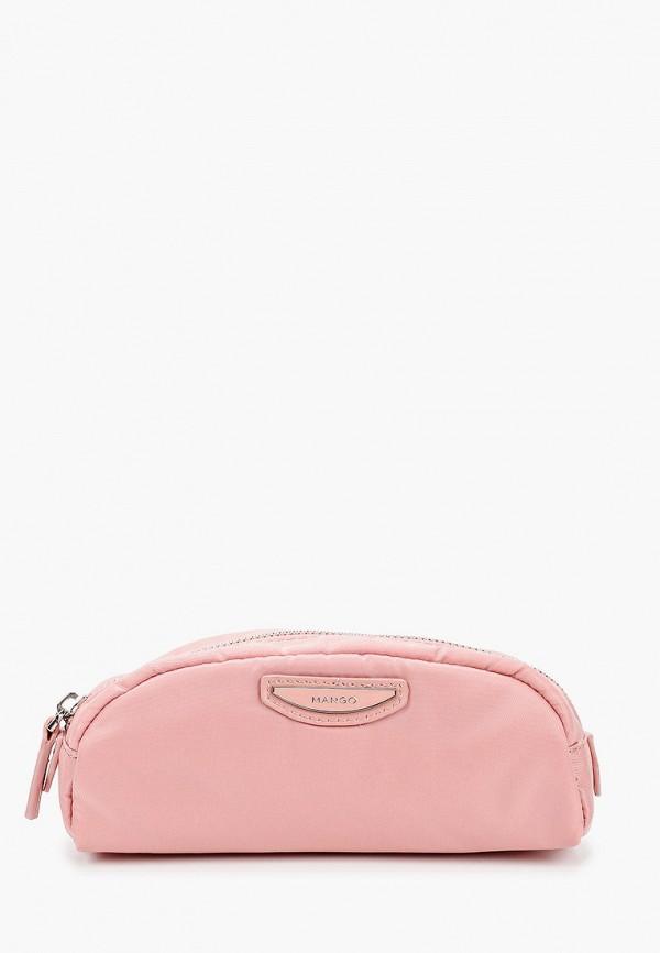 женская косметичка mango, розовая