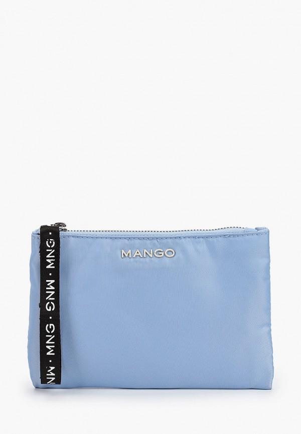 женская косметичка mango, голубая