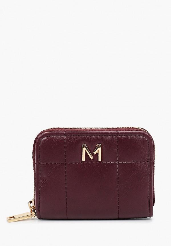 женский кошелёк mango, бордовый