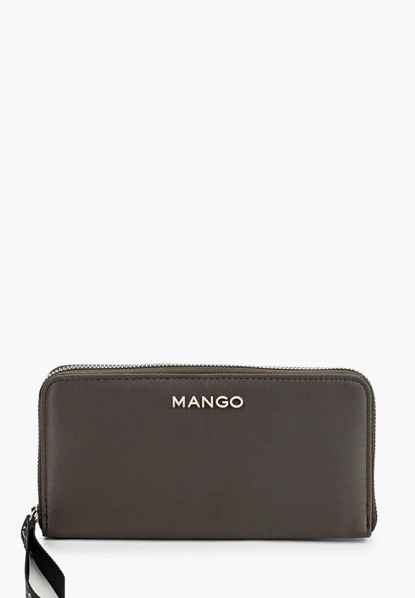 женский кошелёк mango, хаки